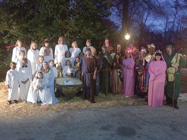 Live Nativity with members of the hospital staff and families highlight the annual tree lighting event at Mercy Fitzgerald Hospital.