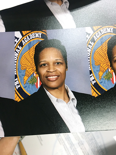 Chester Township police Capt. Laura Hartshorn is Delaware County's first-ever female graduate of the national FBI Academy in Quantico, Virginia.