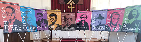 The initial 10 inductees into the Spirit of Dr. King Hall of Fame are memorialized on posters designed by local artist George Rothacker.