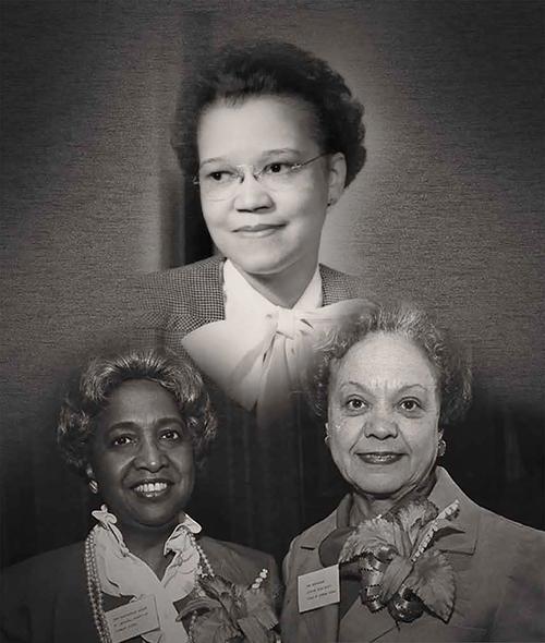 Pioneering Black female lawyers were (from left) Judge Doris May Harris, Dr. Sadie T.M. Alexander, the first Black graduate of the University of Pennsylvania's Law School, and former Supreme Court Justice Juanita Kidd Stout.