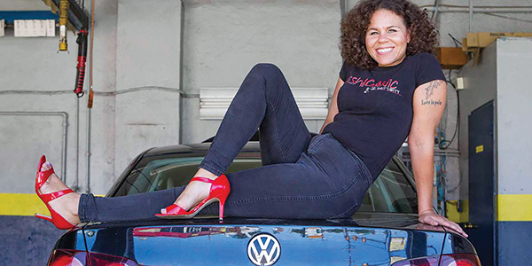 "Patrice Banks, owner of the Girls Auto Clinic in Upper Darby, and author of the soon-be-released ""Girls Auto Clinic Glove Box Guide"" which aims to educate and empower women to be smart consumers and confident drivers."