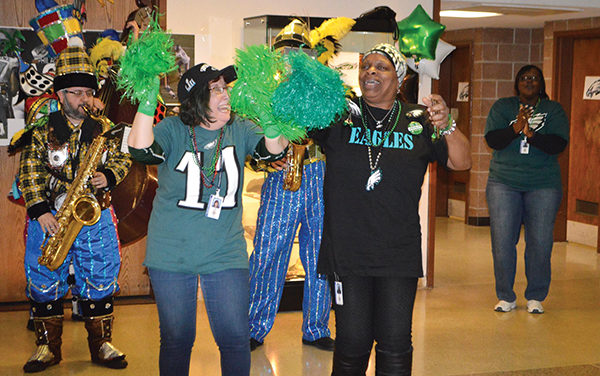Say It Loud: E-A-G-L-E-S! Spirit was high for a Birds victory
